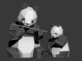 大熊猫小熊猫 3D模型