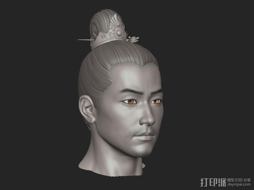 ZB标准男人体雕刻+古装发型 3D模型  图2