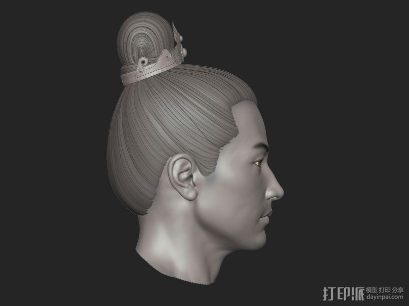 ZB标准男人体雕刻+古装发型 3D模型  图3