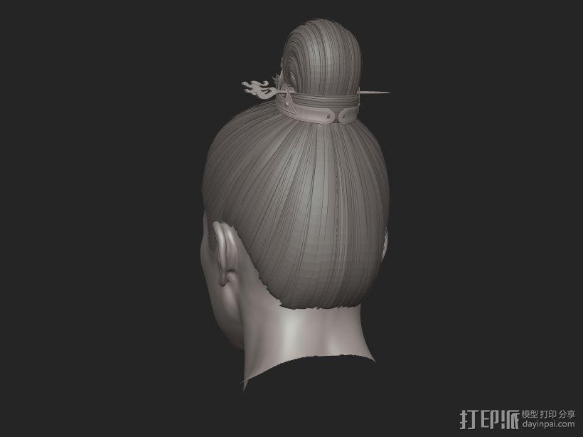 ZB标准男人体雕刻+古装发型 3D模型  图7