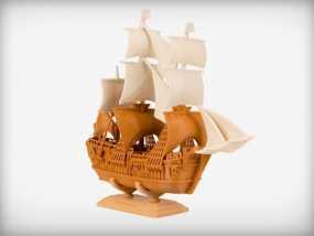 航海家的船 3D模型