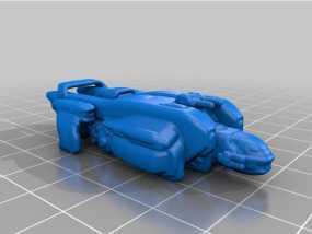 远行星号太空战船 3D模型