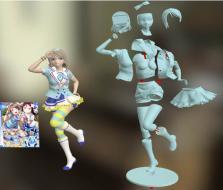 可爱抬腿女孩手办 3D模型