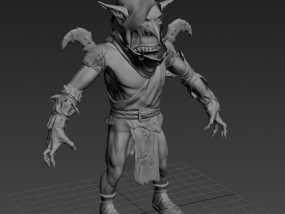 怪物角色_哥布林 3D模型