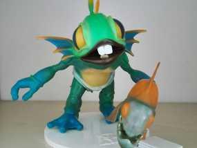 风暴英雄小鱼人 3D打印制作