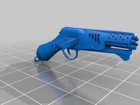 加特林连发手枪 3D模型