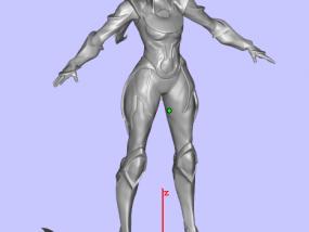 皎月女神(细化修复) 3D模型