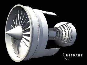 涡轮发动机模型 3D模型