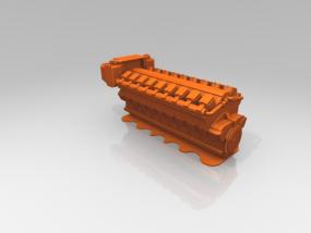 柴油发动机 3D模型