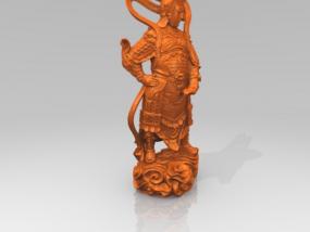 韦陀菩萨 3D模型