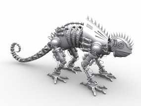高精度机械蜥蜴 3D模型