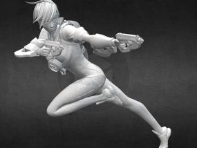 守望先锋 猎空者 3D模型