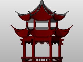 六角亭 3D模型