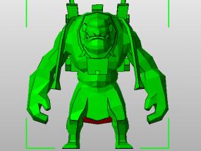 召唤师联盟石头人 3D模型