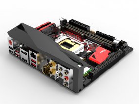 主板I/O盖  3D模型