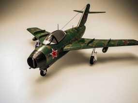 米格15战斗机 3D模型