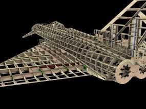 EF 1 / 4钢筋混凝土模型 3D模型