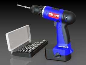 无绳电钻 3D模型