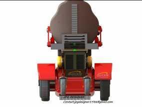 电动轮椅 3D模型