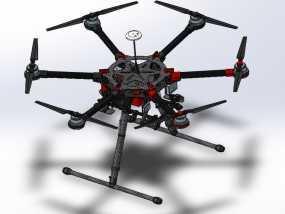 大疆s900专业级航拍飞行器 3D模型