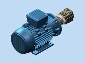 电动机液压泵 3D模型
