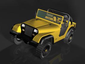 3D打印JEPP1987款牧马人车模 3D模型