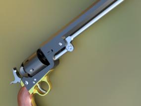 柯尔特海军1851手枪 3D模型